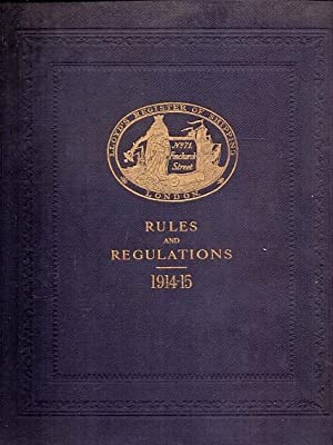 LLoyd's Register of Shipping Rules and regulations