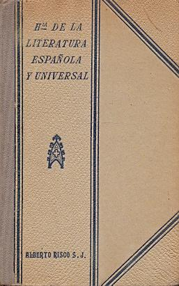 Historia de la Literatura Española y Universal: Risco, Alberto (S.J.)