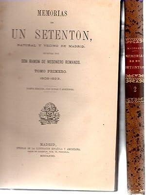 Memorias de un setenton. Dos volumenes. Natural: Mesonero Romanos, Ramon