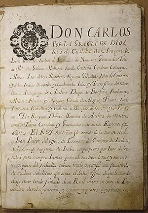 Escribanía de Cámara de Italia. Cartapacio de