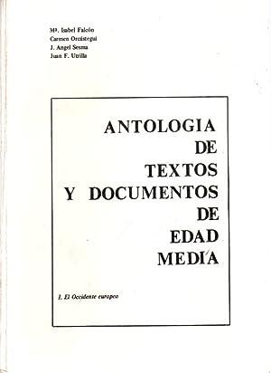 Antologia de textos y documentos de Edad: ORCASTEGUI, CARMEN/FALCÓN PEREZ,