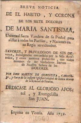 Breve noticia de el Hábito y Corona: Gorostiza, Martín de