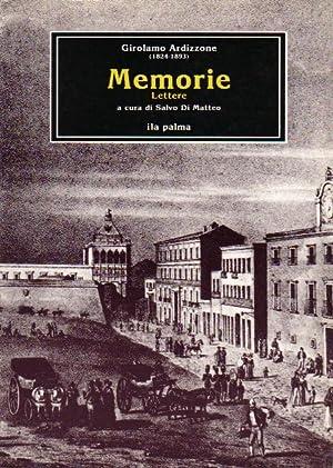 Memorie - Lettere: Ardizzone Girolamo