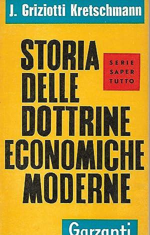 STORIA DELLE DOTTRINE ECONOMICHE MODERNE