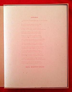 Poemas.: Raúl Martín GALAN