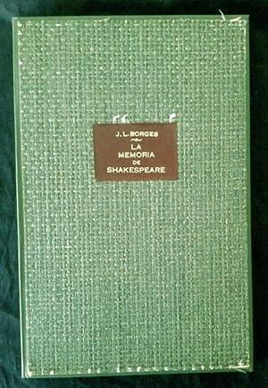 La memoria de Shakespeare.: Jorge Luis BORGES