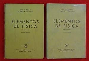 Elementos de Física. 2 tomos.: Ernesto SABATO -