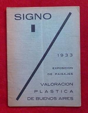 Revista SIGNO, Nº 1, 1933.: Leonardo Estarico, Adolfo