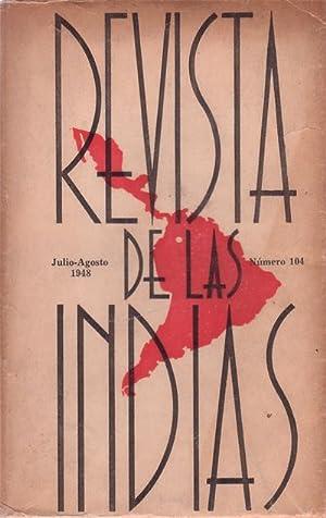 REVISTA DE LAS INDIAS. Nº 104. Julio-Agosto: VIVAS BALCAZAR, José