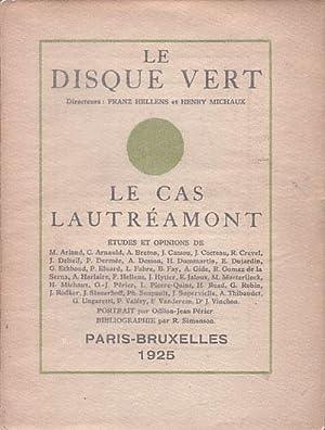 LE CAS LAUTREAMONT. Revue LE DISQUE VERT (Número especial): HELLENS, Franz - MICHAUX, Henry