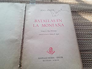 Las batallas en la Montaña: Giono, Jean.