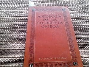 Antología de la filosofía griega.: Gaos, José.