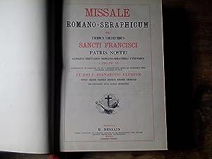 Missale Romano-Seraphicum pro Tribus Ordinibus Sancti Francisci: Missale Romano-Seraphicum pro
