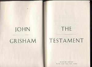 The testament.: Grisham, John.