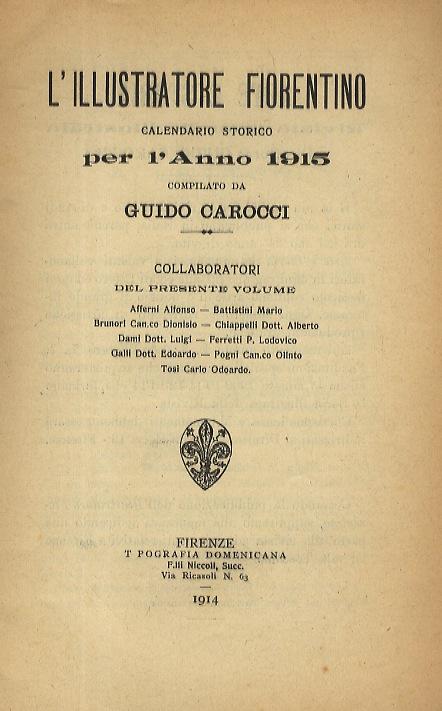 Calendario 1906.L Illustratore Fiorentino Calendario