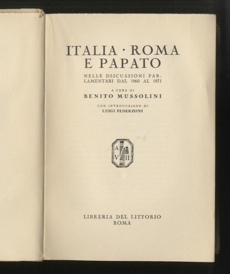 Italia roma e papato volume i nelle discussioni for I parlamentari