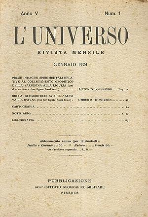 Universo (L'). Rivista mensile. Anni V-XVII. (V: