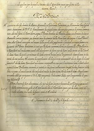 Registro di documenti della famiglia Mannelli di: COME FU SALVATA