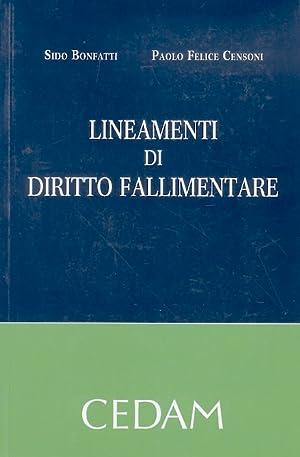 Lineamenti di diritto fallimentare.: BONFATTI S. -