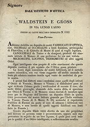 Dall'Istituto d'Ottica di Waldstein e Gross in: WALDSTEIN e GROSS.
