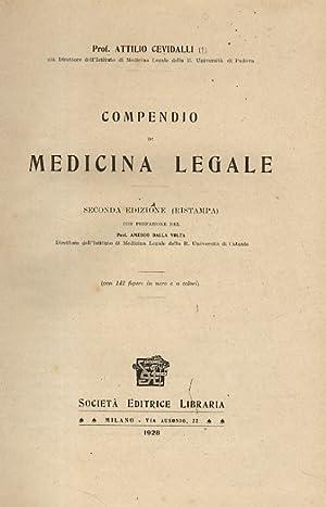 Compendio di medicina legale. Seconda edizione (ristampa),: CEVIDALLI Attilio.