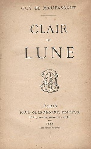 Clair de lune. Quatorzième édition.: Maupassant G., de.