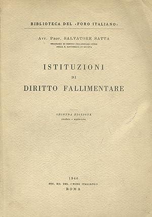 Istituzioni di diritto fallimentare. III Edizione.: Satta S.