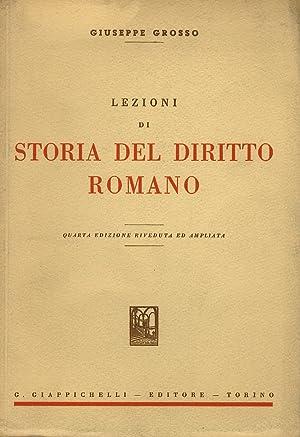 Lezioni di storia del diritto romano. Quinta: Grosso G.