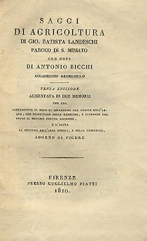 Saggi di agricoltura di Gio. Batista Landeschi: LANDESCHI Giovanni Battista.