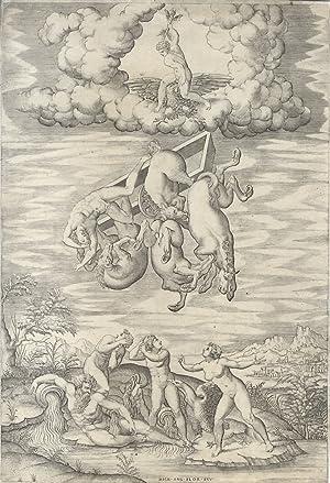 La caduta di Fetonte.: INCISIONE, XVI SEC., DA NICOLA BEATRIZET].