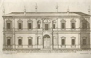 Disegno del Palazzo della Vigna Giulia posto: FERRERIO Pietro.