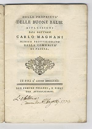 Delle proprietà delle buone balie riflessioni del: MAGNANI Carlo.