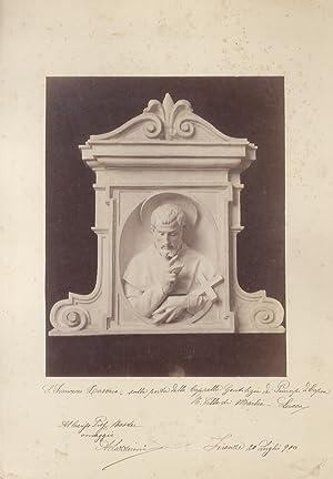 Fotografia originale, riproducente un bassorilievo in marmo,: FOTOGRAFIA ALINARI, SCULTURA,