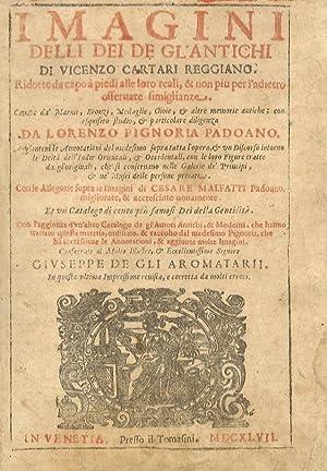 Imagini delli Dei degl'Antichi di Vicenzo Cartari: CARTARI Vincenzo.