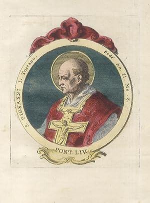 S. Giovanni I Toscano. Sedè An. II,: Papi).