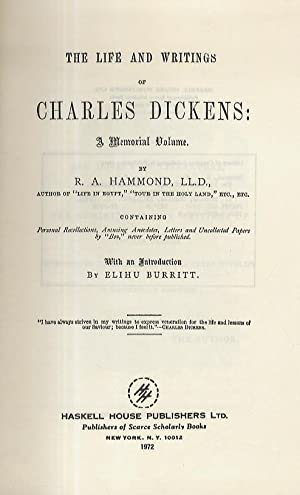 The life and writings of Charles Dickens: a memorial volume.