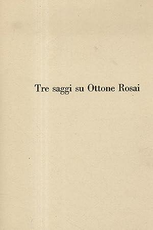Tre saggi su Ottone Rosai.: LONZI Carla -