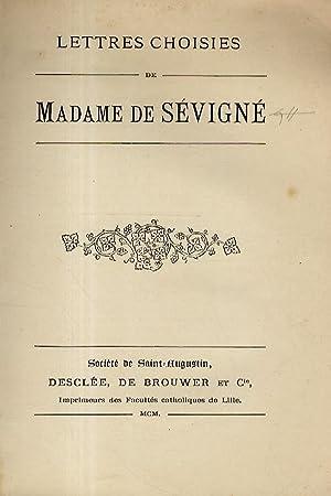 Lettres choisies.: SEVIGNé, Madame de