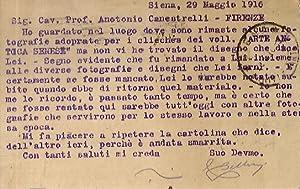 Lettera dattiloscritta con firma autografa, stesa su: BELLOCCI Cesare [direttore