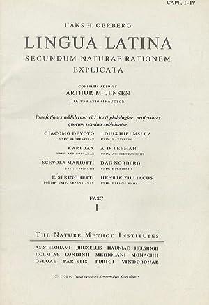 """Il latino secondo il """"Metodo Natura"""". (Lingua: OERBERG H.H."""