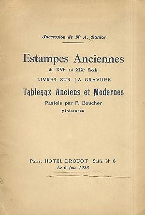 Catalogue des estampes anciennes du XVI au: DROUOT, HOTEL.