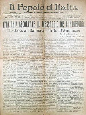Lettera ai Dalmati [In:] Il Popolo d'Italia.: D'ANNUNZIO Gabriele].