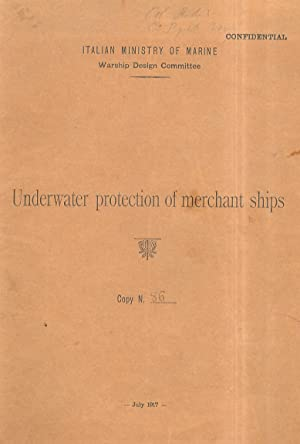 Underwater protection of merchant ships. Copy n. 86.