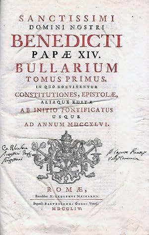 Sanctissimi domini nostri Benedicti papae XIV Bullarium.: BENEDETTO XIV, PAPA