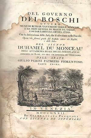 Del governo dei boschi ovvero mezzi di: DUHAMEL du MONCEAU