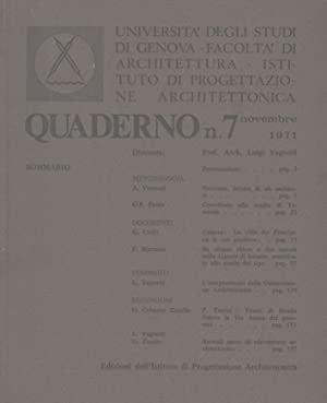 Quaderno n. 7. Novembre 1971. Direttore: Prof.: UNIVERSITA' DEGLI STUDI