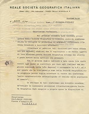 Lettera dattiloscritta, con firma autografa, stesa su: ZOLI Corrado [giornalista,