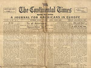 CONTINENTAL (THE) Times. Special War Edition. A Journal for American in Europe. N. 1079. Vol. XXI...