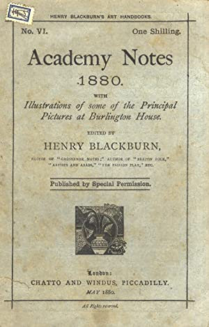 Academy Notes 1880. With illustrations of the principal pictures at Burlington House.
