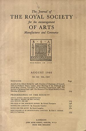 JOURNAL (THE) of the Royal Society for